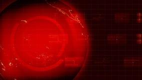 红色抽象地球概念 向量例证