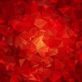 红色抽象多角形样式 免版税库存照片