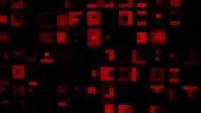 红色抽象数字正方形VJ圈行动背景 皇族释放例证