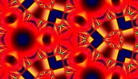 红色抽象无缝的样式 免版税库存图片