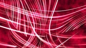 红色抽象波浪排行背景 皇族释放例证