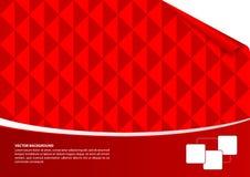 红色抽象空的背景 免版税库存照片