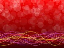 红色抽象背景、圈子和形式 免版税库存图片