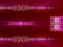 红色抽象背景、线和光 图库摄影
