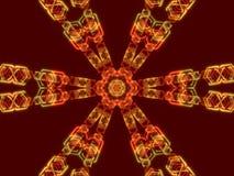 红色抽象背景,万花筒形状 库存照片