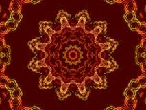 红色抽象背景,万花筒形状 图库摄影
