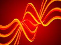 红色抽象背景,金形式 免版税库存照片