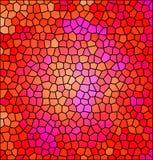红色抽象马赛克 免版税库存照片