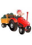 红色拖拉机 库存照片