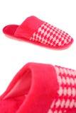 红色拖鞋 库存图片