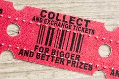 红色拱廊奖票 库存照片
