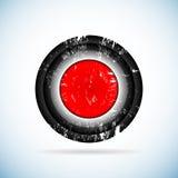 红色按钮。 库存照片