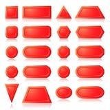 红色按钮形状 免版税库存照片