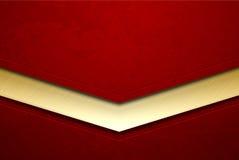 红色掠过了与难看的东西纹理的金属抽象背景 传染媒介被抓的表面和金黄线元 皇族释放例证