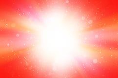 红色摘要有星和圈子背景 免版税库存照片
