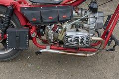 红色摩托车零件 免版税图库摄影