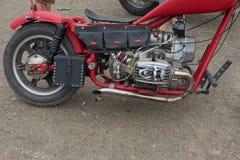 红色摩托车零件 免版税库存图片