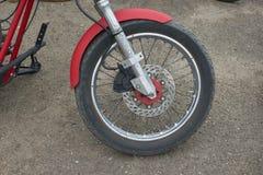 红色摩托车零件 免版税库存照片