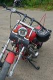 红色摩托车零件 库存照片