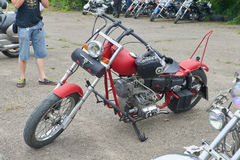 红色摩托车零件 库存图片