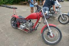 红色摩托车零件 图库摄影