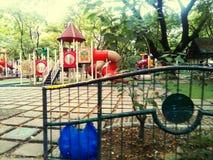 红色操场公园孩子 库存图片