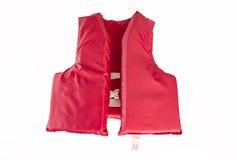 红色救生衣,背心 免版税库存图片