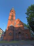红色教会在乌斯季nad Labem市 免版税库存照片
