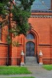 红色教会在Postorna 免版税库存图片