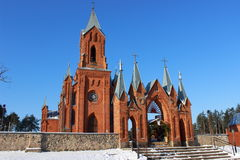 红色教会 库存图片