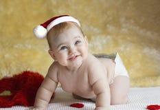 红色敞篷婴孩 库存图片