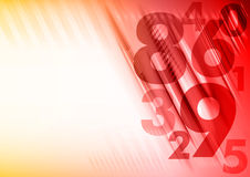 红色数字 免版税库存照片