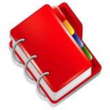 红色文件夹图标 库存图片