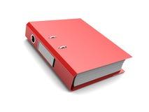 红色文件夹 库存照片