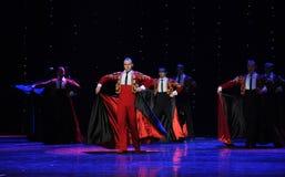 红色斗篷这奥地利的世界舞蹈 库存照片