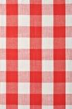 红色方格的织品 免版税图库摄影