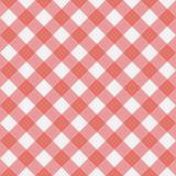 红色方格花布无缝的样式 免版税库存图片