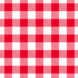 红色方格花布样式 无缝的纹理向量 免版税图库摄影