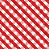 红色方格花布背景 图库摄影