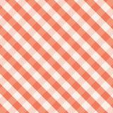 红色方格花布背景 免版税库存图片