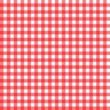 红色方格花布 库存例证