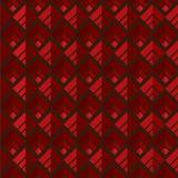 红色无缝的方形的样式背景 免版税库存图片
