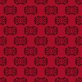 红色无缝的样式背景 免版税库存图片