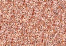 红色无缝的石墙 图库摄影