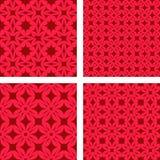 红色无缝的背景集合 皇族释放例证