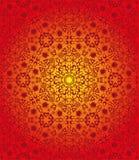 红色无缝的部族样式 库存图片