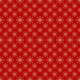 红色无缝的雪花样式 库存照片