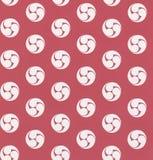 红色无缝的颜色样式 免版税库存图片