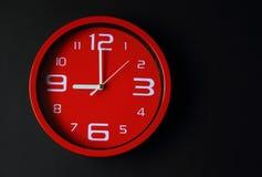 红色时钟 图库摄影
