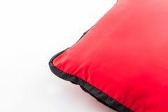 红色明亮的枕头 免版税库存照片